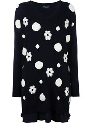 Twin Set Dotted Pattern Dress Black
