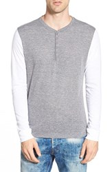 Men's The Rail Long Sleeve Two Tone Jersey Henley