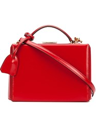 Mark Cross 'Grace' Small Box Bag Red