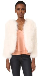 Rebecca Minkoff Pacha Feather Jacket Nude Pink