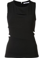 Alexander Wang T By Cut Out Top Black