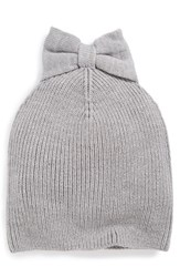 Kate Spade Women's New York Bow Beanie Grey