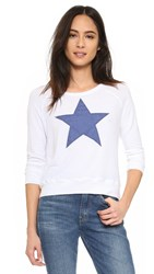 Sundry Sweater Knit Star Pullover White