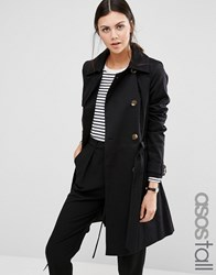 Asos Tall Classic Trench Coat Black