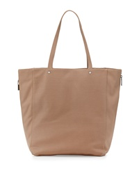 Neiman Marcus Perforated Side Zip Tote Bag Camel