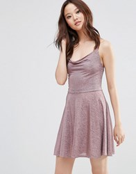 Wal G Cami Dress In Glitter Fabric Pink