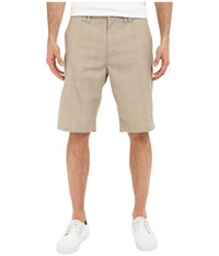 O'neill Delta Plaid Shorts Dark Stone Men's Shorts Tan