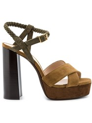 Lanvin Platform Sandals Brown