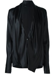 Haider Ackermann Deep V Neck Blouse Black