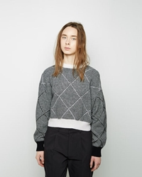 Sayaka Davis Diamond Pattern Pullover White