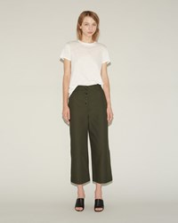 Proenza Schouler Cotton Canvas Culotte Cypress