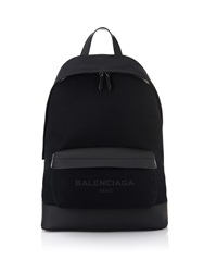 Balenciaga Navy Canvas Backpack