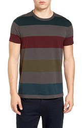 French Connection Men's Shatter Stripe T Shirt