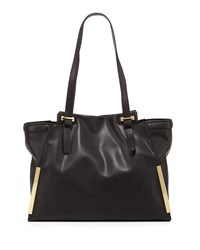 French Connection Finn Faux Leather Tote Bag Black