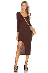 Twenty Autumn Rib Dress Brown