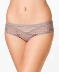 Calvin Klein Infuse Sheer Lace Hipster Qf1458 Grey Sand