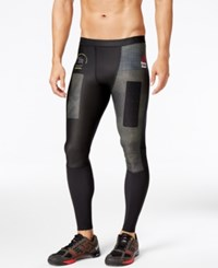 Reebok Men's Compression Leggings Black