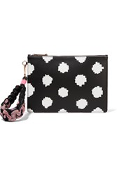 Sophia Webster Flossy Printed Leather Pouch Black