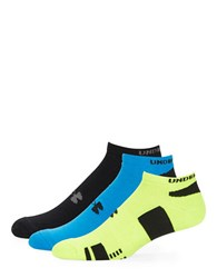 Under Armour Heatgear No Show Three Pack Socks Assorted