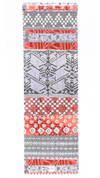 La Vie Boheme Yoga Dakota Hot Yoga Towel Mat Coral Multi
