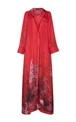 For Restless Sleepers Roda Silk Wrap Robe Red