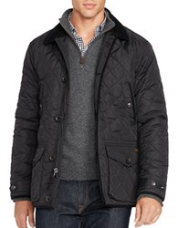Polo Big And Tall Diamond Quilted Jacket Black