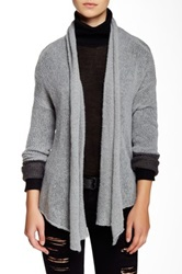 Wooden Ships Split Back Swing Cardigan Gray