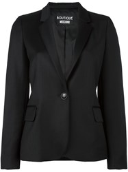 Boutique Moschino One Button Blazer Black