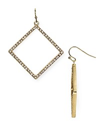Abs By Allen Schwartz Pave Drop Earrings Light White