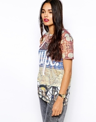 Hype T Shirt With Regal Patch Print Multi