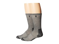 Timberland Tm31042 Heavyweight Wool Hiker Crew 2 Pair Pack Black Men's Crew Cut Socks Shoes