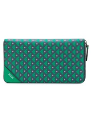 Bally Geometric Pattern Wallet Green