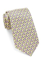 Tailorbyrd Silk Owl Tie Yellow