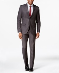 Perry Ellis Charcoal Pindot Extra Slim Fit Suit