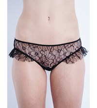 Morgan Lane Mae Lace Bikini Briefs Noir