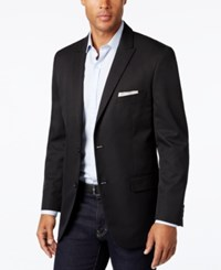 Alfani Men's Slim Fit Black Herringbone Sport Coat Black Solid