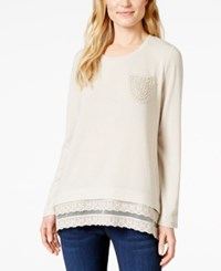 Styleandco. Style And Co. Lace Hem Tunic Top Only At Macy's