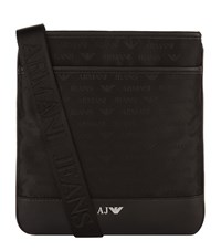Armani Jeans Logo Stash Bag Unisex Black