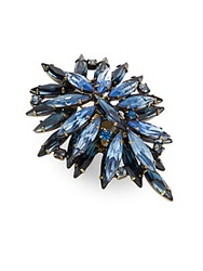 Dannijo Bella Clustered Marquis Ring Blue