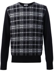 Tomas Maier Checked Sweater Black