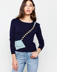 Yumi Jumper With Bag Detail Navy