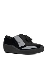 Fitflop Classic Tassel Tm Patent Leather Superoxfords Black