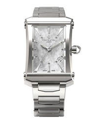 Charriol Stainless Steel Small Colvmbvs Three Hand Watch W Diamond Markers