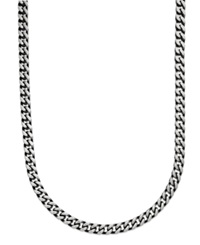 Macy's Men's Black Ion Plated Stainless Steel Necklace 24' 6Mm Link Chain