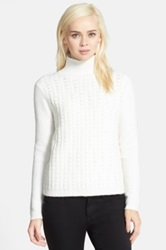 Chelsea 28 Textured Turtleneck White