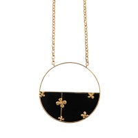 Aurelie Bidermann Bianca Long Onyx Necklace