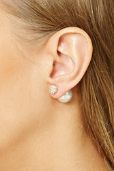 Forever 21 Faux Pearl Dual Studs