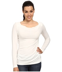Royal Robbins Essential Tencel Cowl Neck Cr Me Women's Long Sleeve Pullover Beige