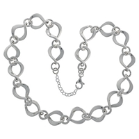 Nina B Sterling Silver Twisted Open Link Necklace