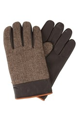 Men's Original Penguin Herringbone Gloves With Leather